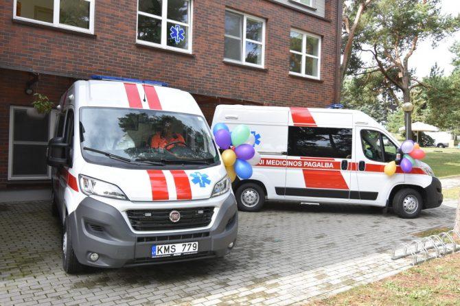 Neringai – nauji greitosios medicinos pagalbos automobiliai